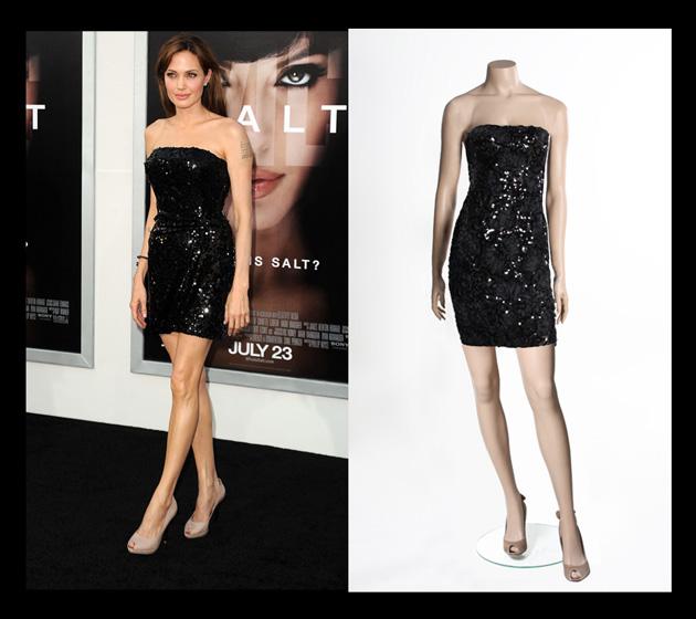 Angelina Jolie en la presentación de Salt