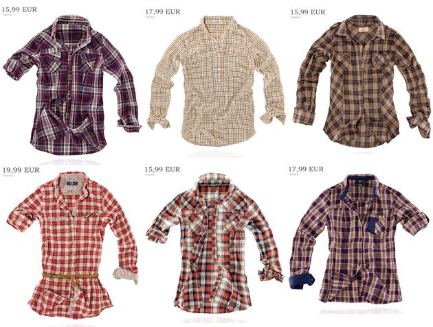 Camisas de cuadros o leñador de Pull and Bear
