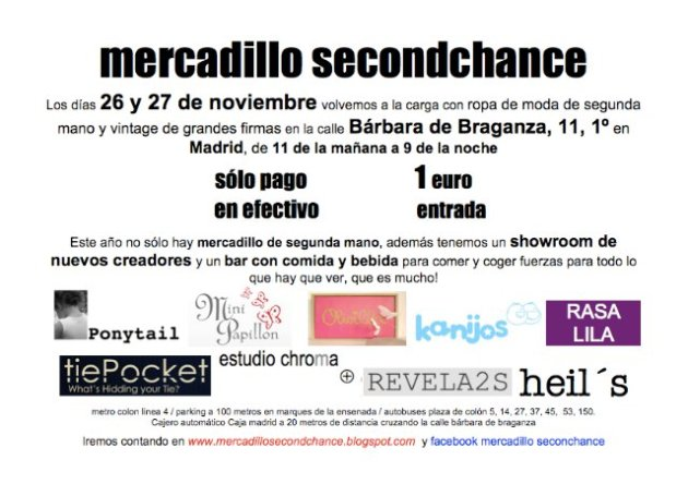 mercadillo second chance 2010