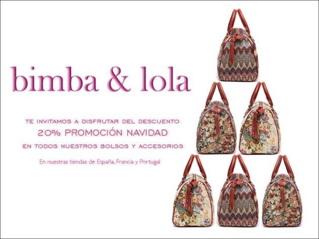 20 % descuento Bimba y Lola