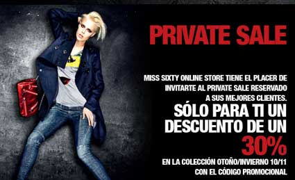 miss sixty private sale