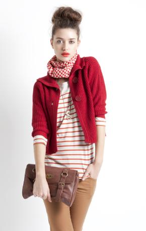 stradivarius chaqueta roja