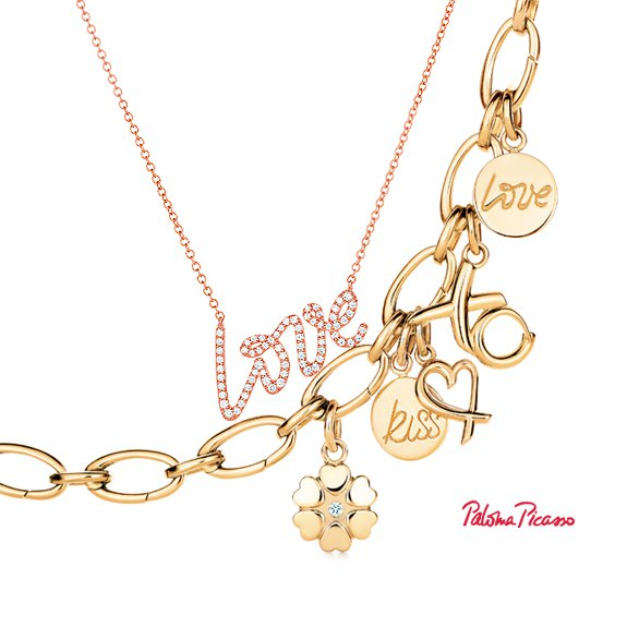 Paloma Picasso® Love pendant and charms