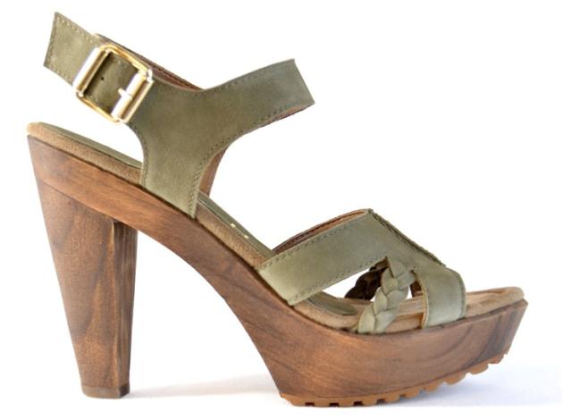 sandalia madera unisa