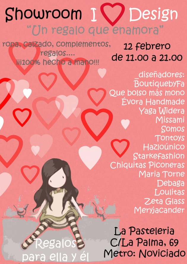 showroom i love design, mercadillo de san valentin