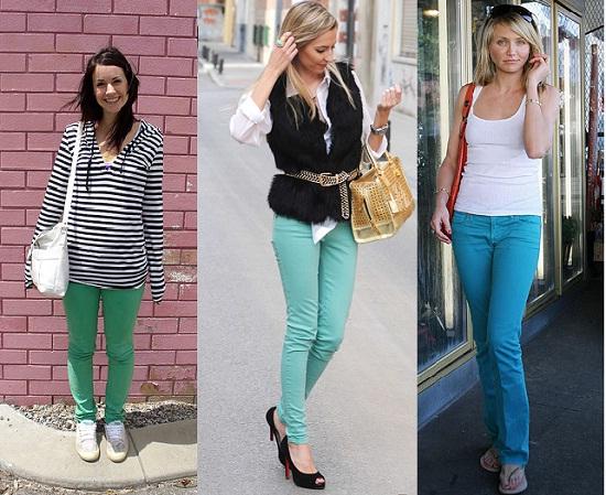 combinar pantalones colores
