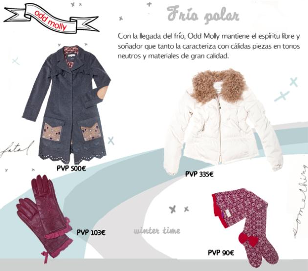abrigos, guantes y calcetines de Odd Molly para el Frío Polar