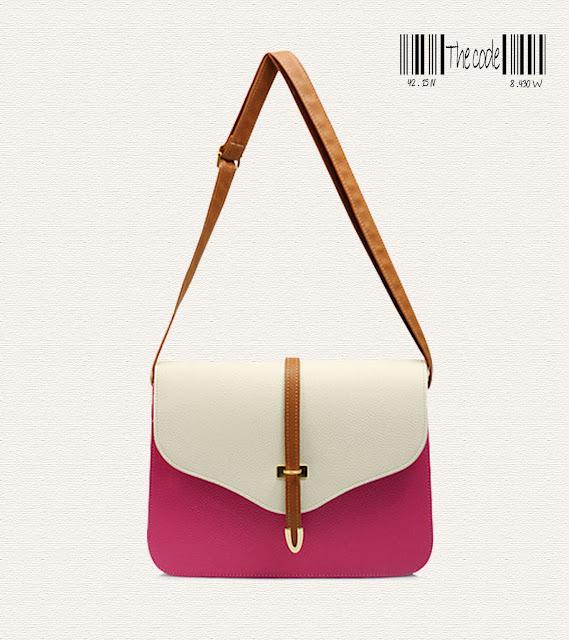 bolso bandolera bicolor pink-The Code