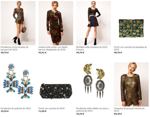Ejemplos de estilismos Barrocos que podemos comprar Online en ASOS.com