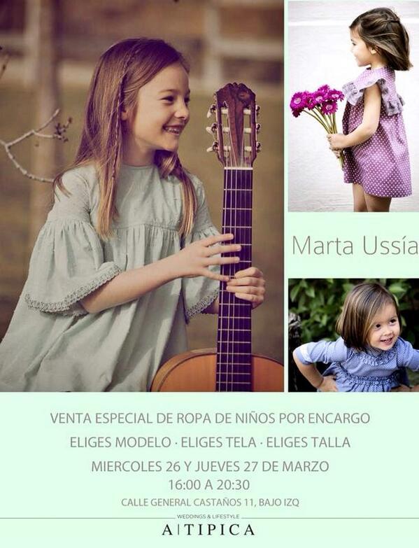 venta especial de Marta Ussía en ATIPICA